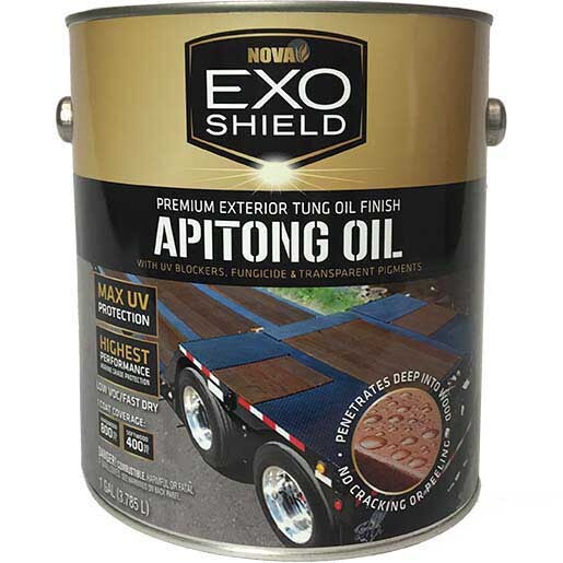 ExoShield Apitong Oil Walnut Exterior Oil Finish