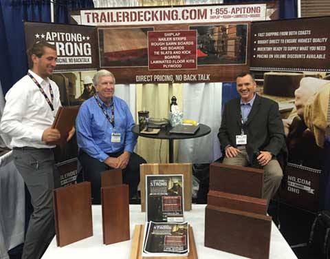 Stephen, Drew and Bill ready to help at a tradeshow